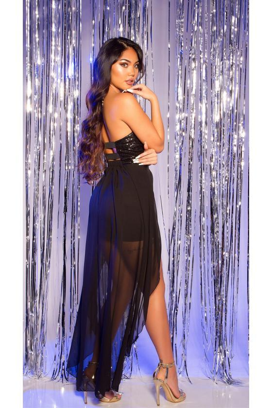 Mėlynos spalvos plėšyti plius dydžių džinsai