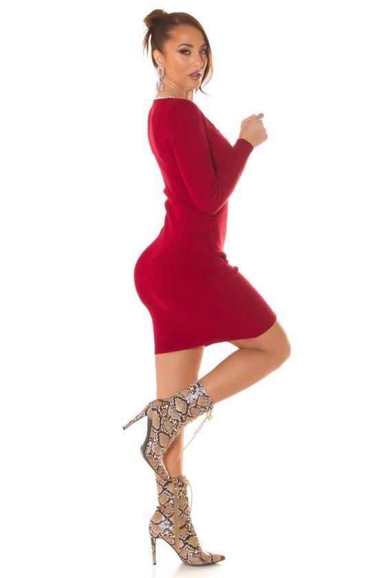 Violetinės spalvos megzta suknelė_215104