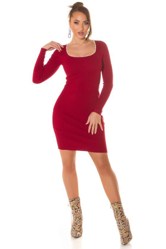 Violetinės spalvos megzta suknelė_215105
