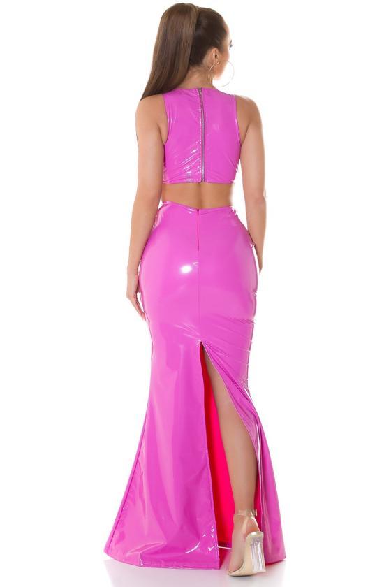 """Ilga mėlynos spalvos suknelė """"Amber""""_215259"""