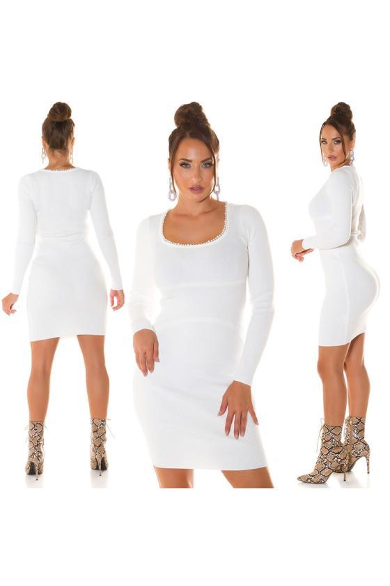 """Ilga mėlynos spalvos suknelė """"Amber""""_215260"""