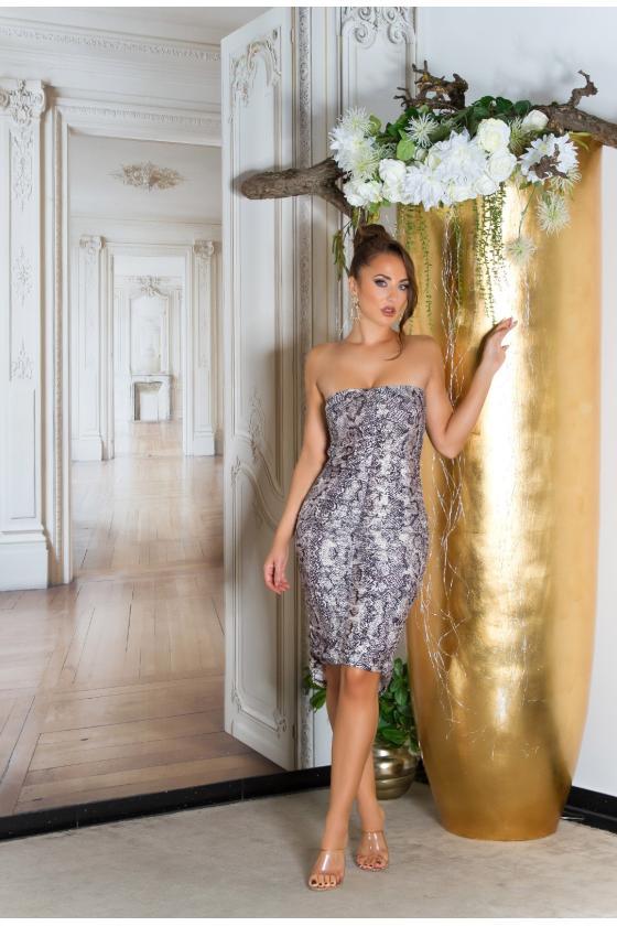 """Mėlynos spalvos plisuota suknelė """"Izabelė"""""""