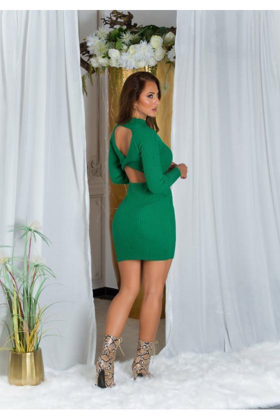 """Mėlynos spalvos plisuota suknelė """"Izabelė""""_215390"""