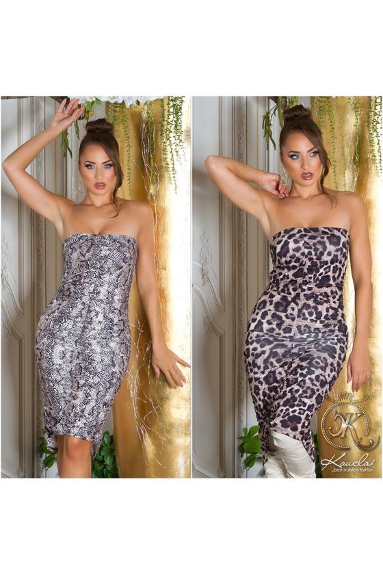 Purvinos rožinės spalvos nėriniuota suknelė trumpomis rankovėmis_215398