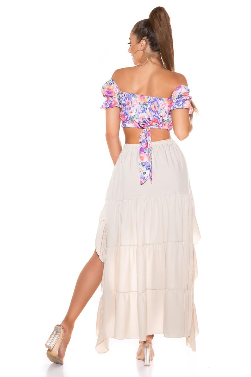 Baltos spalvos suknelė PU4591_215763