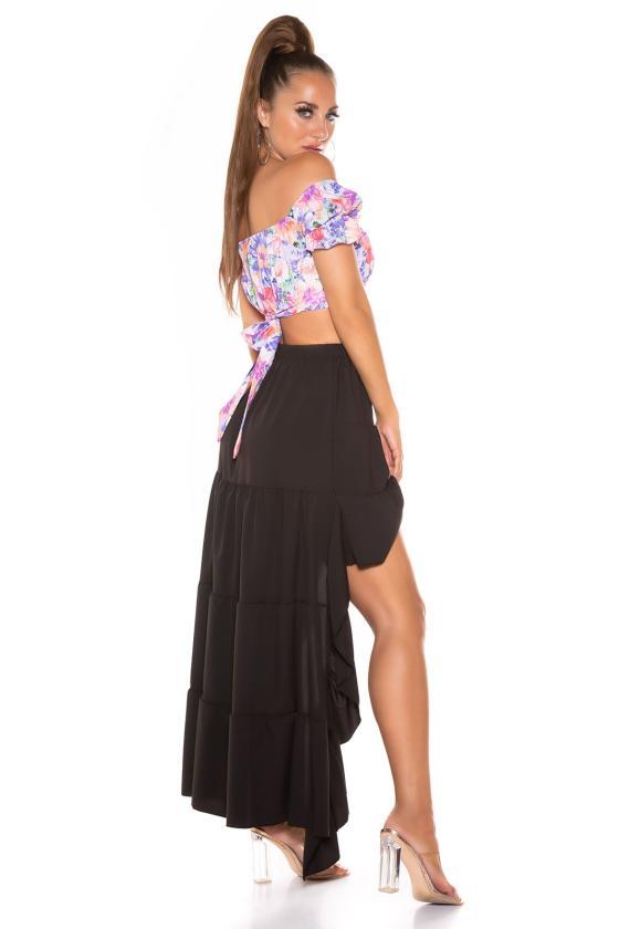 Rožinė laisvalaikio suknelė reguliuojamu liemeniu