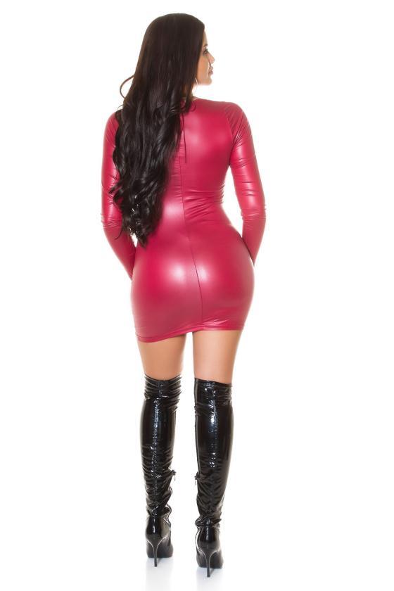 Rožinė laisvalaikio suknelė reguliuojamu liemeniu_216049