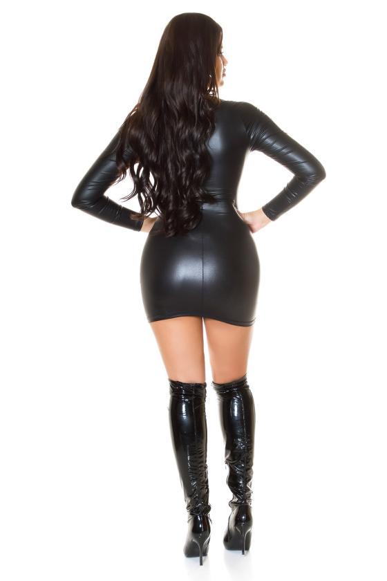 Raudonos spalvos odos imitacijos leginsai_216190