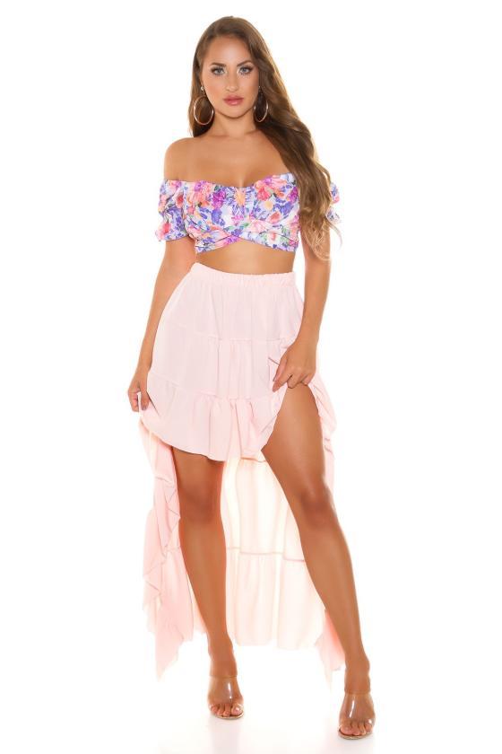 """Purvinos rožinės spalvos trapecijos formos suknelė """"Viktorija"""""""