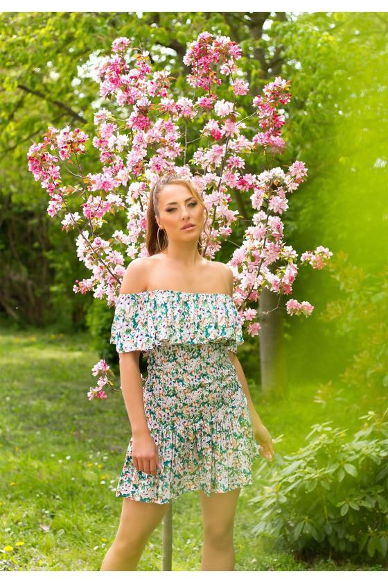 """Ryškių spalvų trapecijos formos suknelė """"Viktorija"""""""