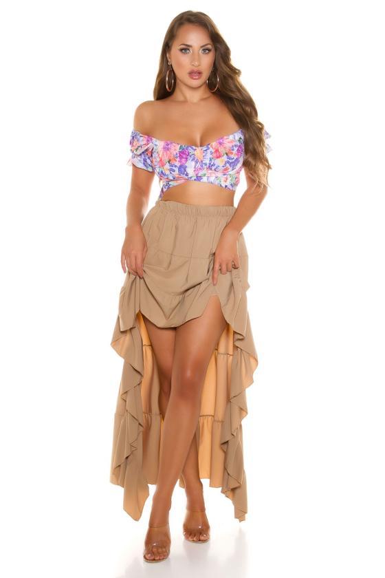"""Ryškių spalvų trapecijos formos suknelė """"Viktorija""""_216289"""