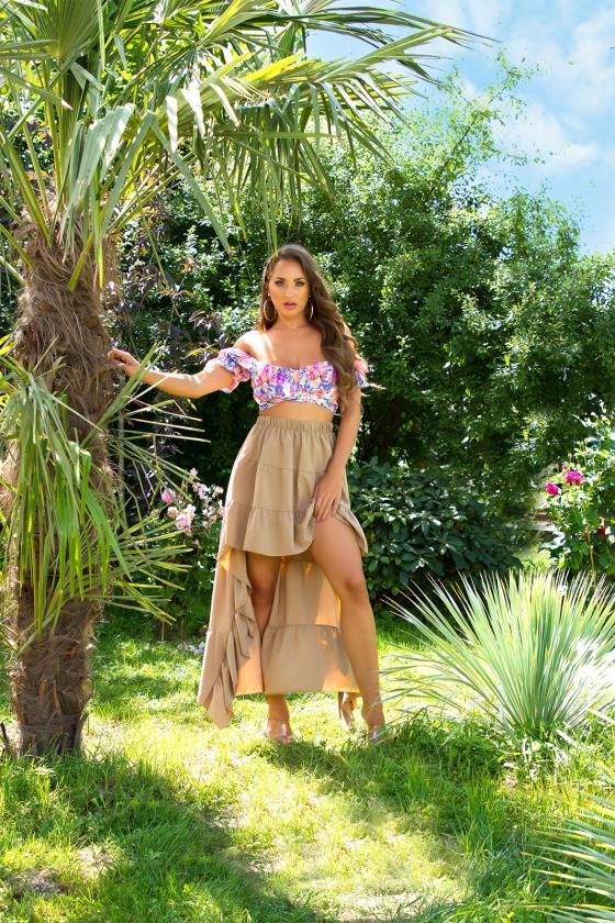 Šviesiai violetinės spalvos suknelė EMILY_216321