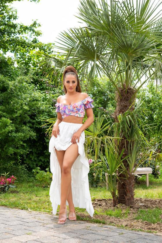 """Mėlynos spalvos marškinių tipo suknelė """" Sandy""""_216355"""