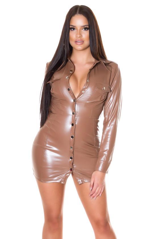 Ilga žalios spalvos suknelė LIDIA