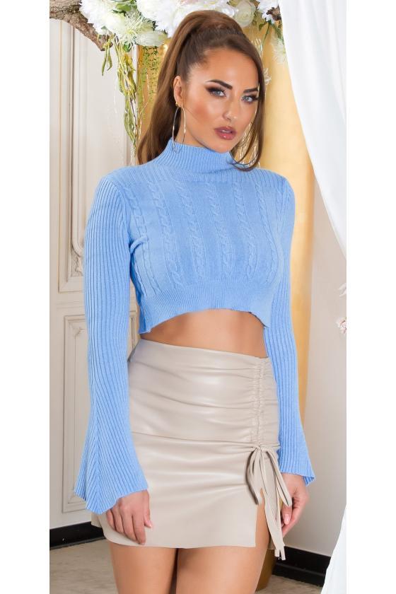 Raudonos spalvos midi ilgio šifoninė suknelė_216402