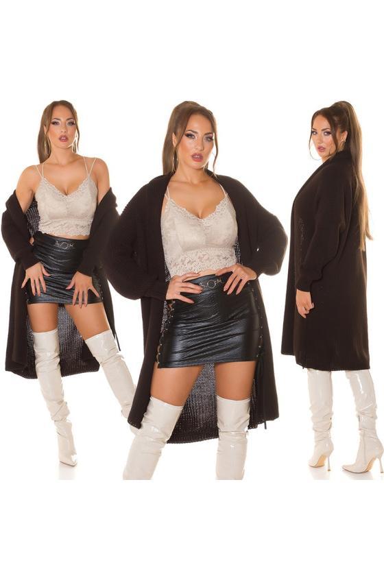Raudonos spalvos midi ilgio šifoninė suknelė_216403