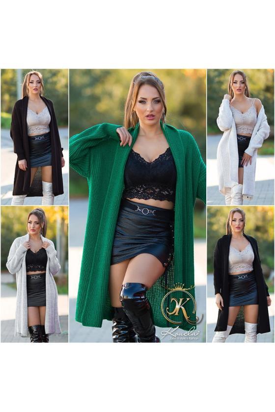Žalios spalvos midi ilgio šifoninė suknelė_216408