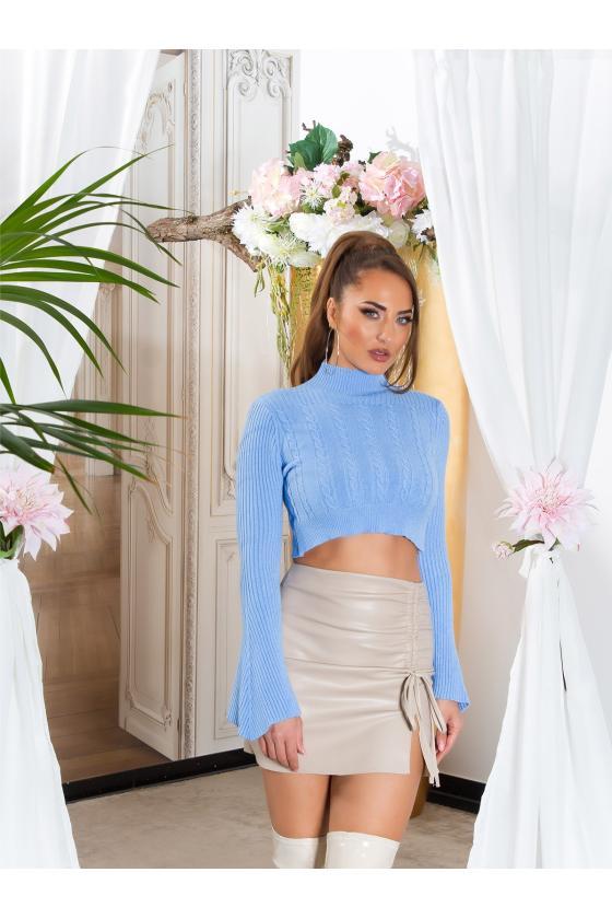 Stilinga suknelė su kišenėmis ir golfu 131-9_216444