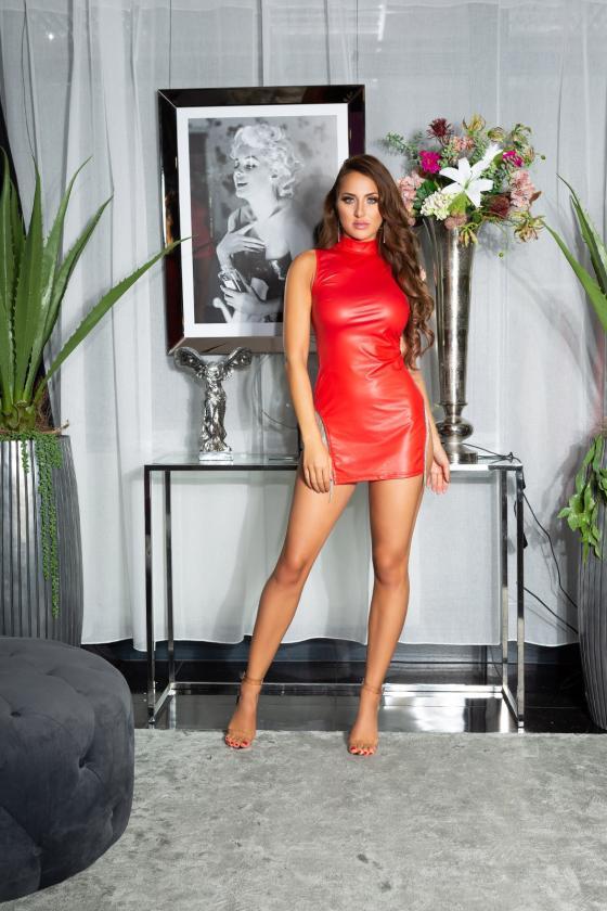 Fuksijų spalvos megzta suknelė_218530