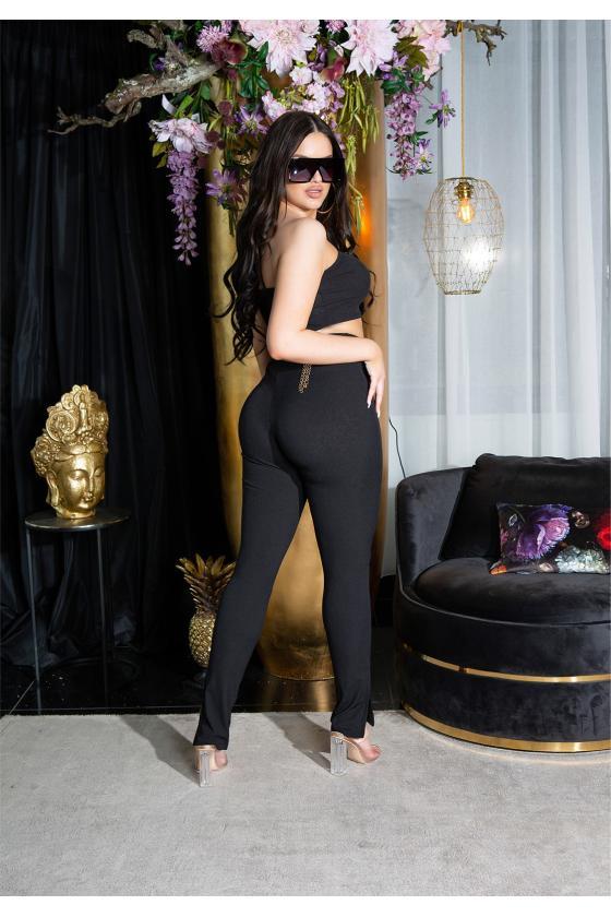 Fuksijų spalvos megzta suknelė_218531