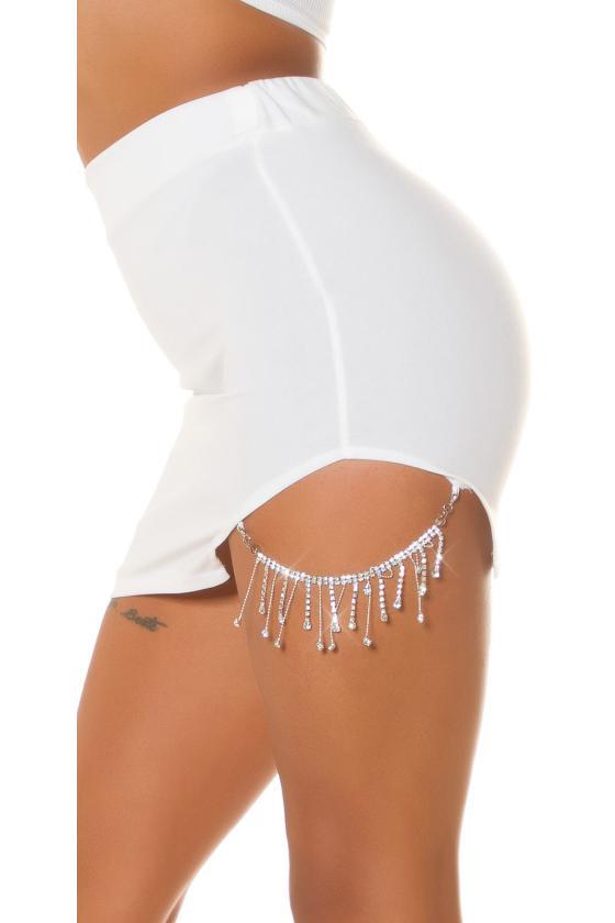 Rausvos spalvos asimetriška suknelė FI666