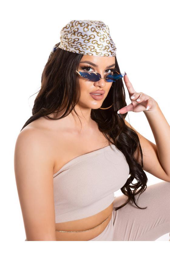 Rausvos spalvos asimetriška suknelė FI666_218761