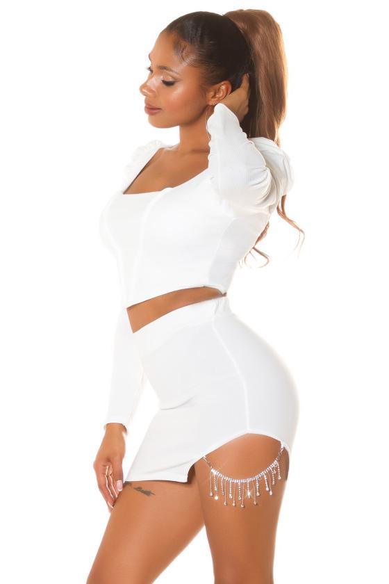 Juodos spalvos asimetriška suknelė FI666_218765