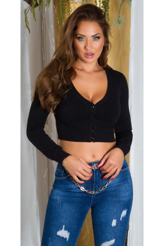 Juodos spalvos asimetriška suknelė FI666_218767