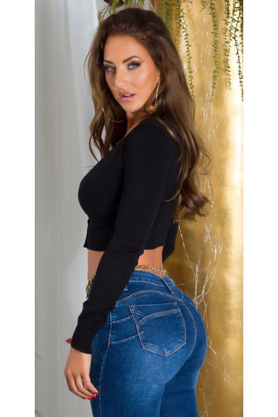Tamsiai mėlynos spalvos asimetriška suknelė FI666_218773