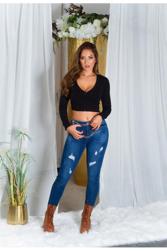 Juodos spalvos midi suknelė FI663