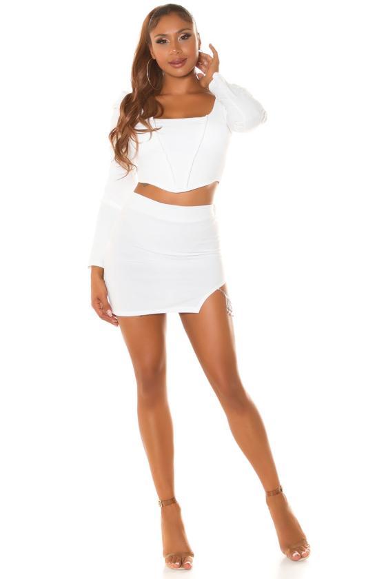 Juodos spalvos midi suknelė FI663_218799