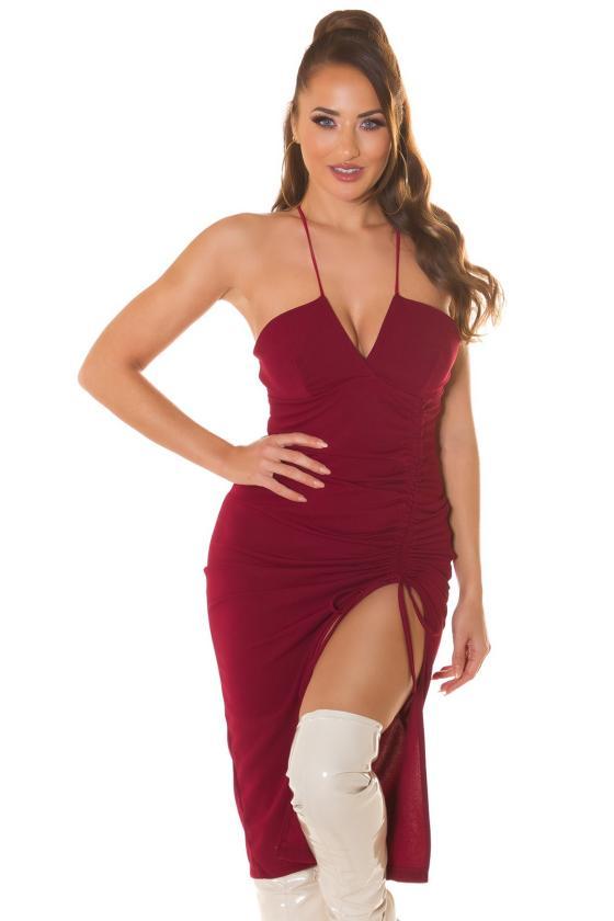 Smėlio spalvos suknelė FI657