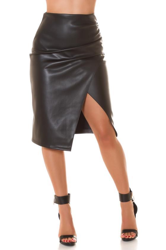 Juodos spalvos suknelė FI652_218850