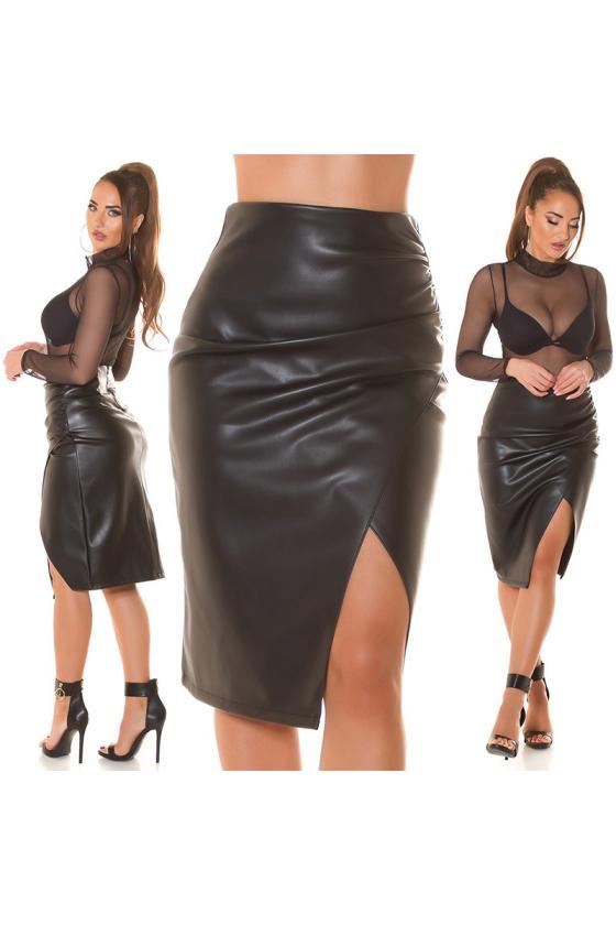 Chaki spalvos suknelė FI652_218863