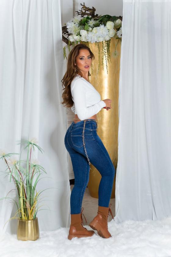 Tamsiai mėlynos spalvos ilgas pašiltintas bliuzonas_218916