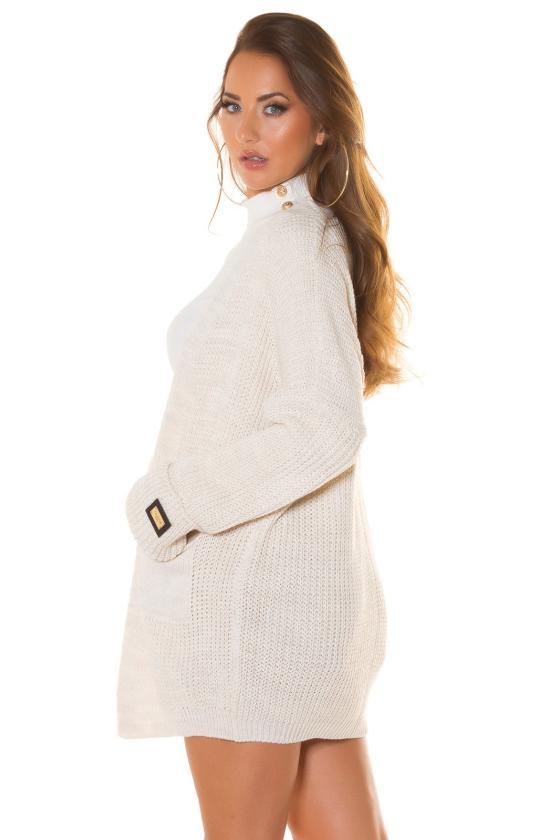 Smėlio spalvos dviejų dalių kompletas kepurė+šalikas_219060