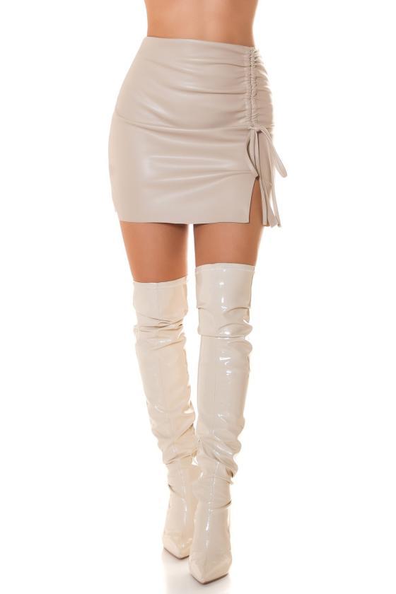 Baltos spalvos dviejų dalių kompletas kepurė+šalikas_219073