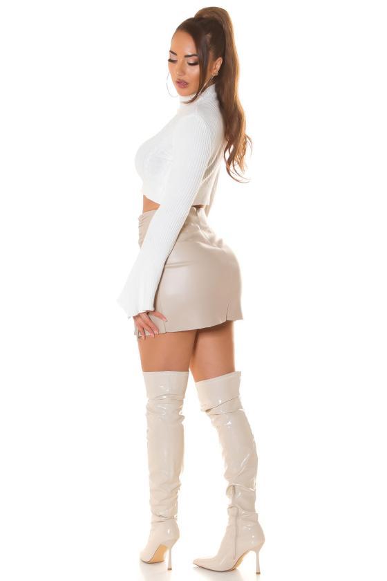 Juodos spalvos dviejų dalių kompletas kepurė+šalikas_219078