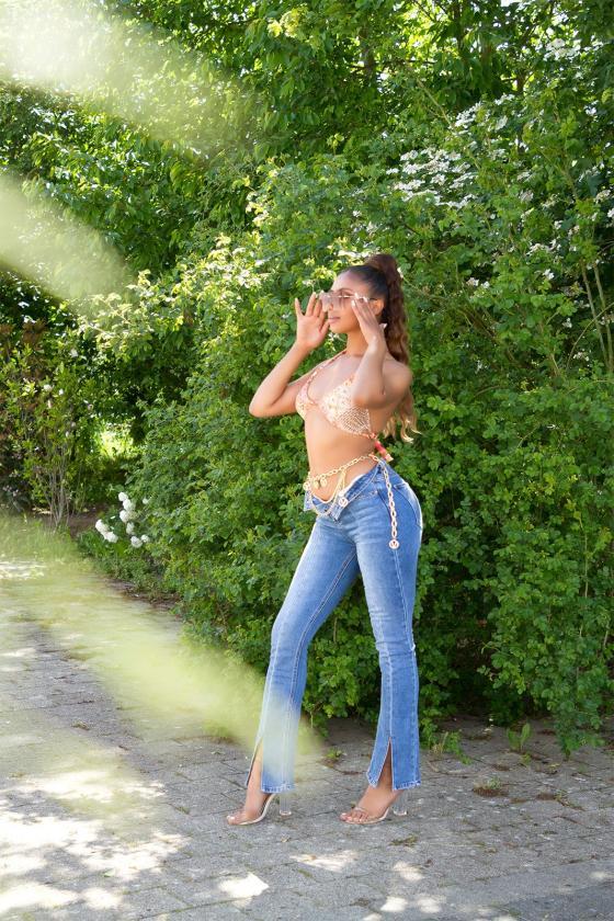 Geltonos spalvos dviejų dalių kompletas kepurė+šalikas_219090