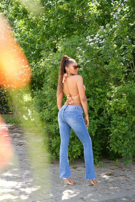 Odos imitacijos rudos spalvos sijonas