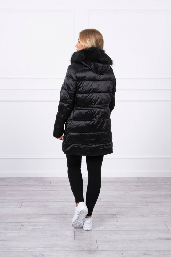 Juodos spalvos žieminė striukė FIFI_219411