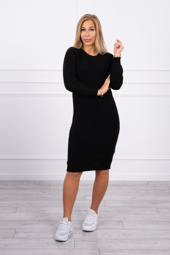 Juodos spalvos megzta suknelė_219591