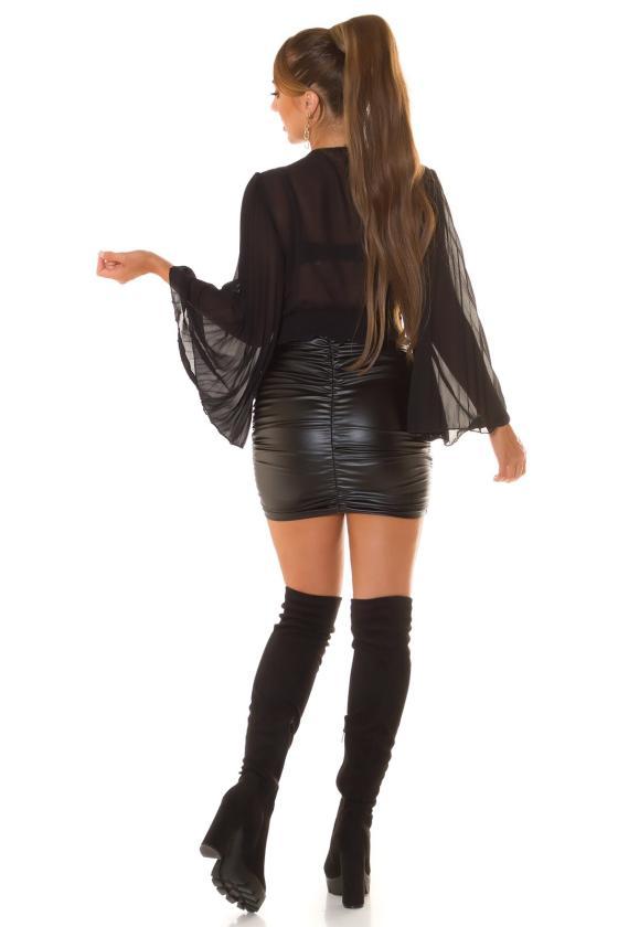 Juodos spalvos megzta suknelė