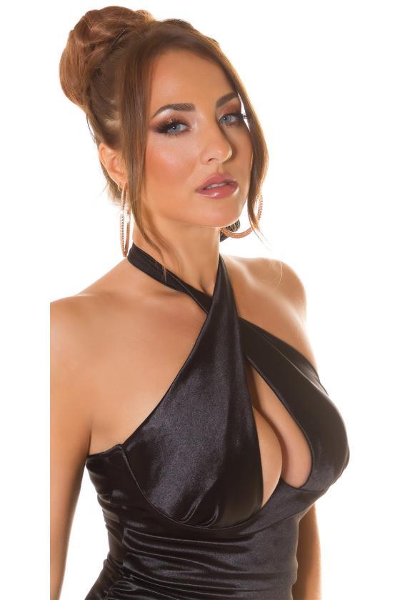 Mėlynos spalvos oversize modelio džemperis