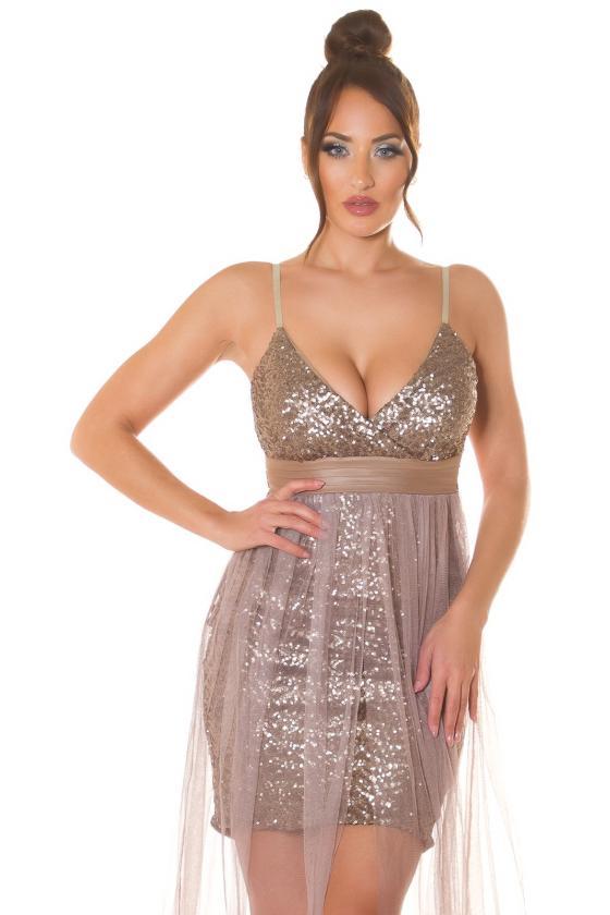 Juodos spalvos suknelė aukštu kaklu_220753