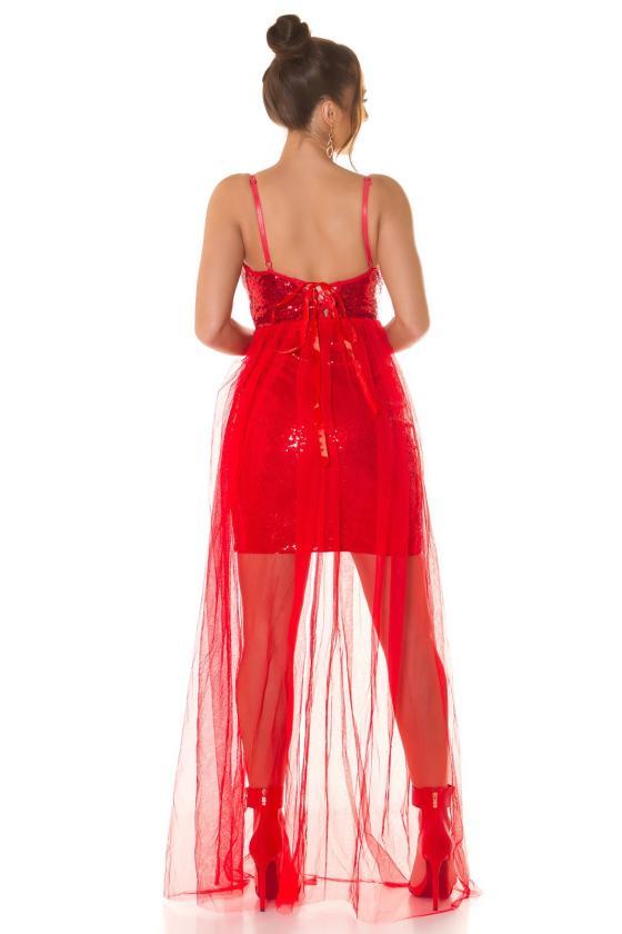 Žalios spalvos veliūrinė laisvalaikio suknelė_220774