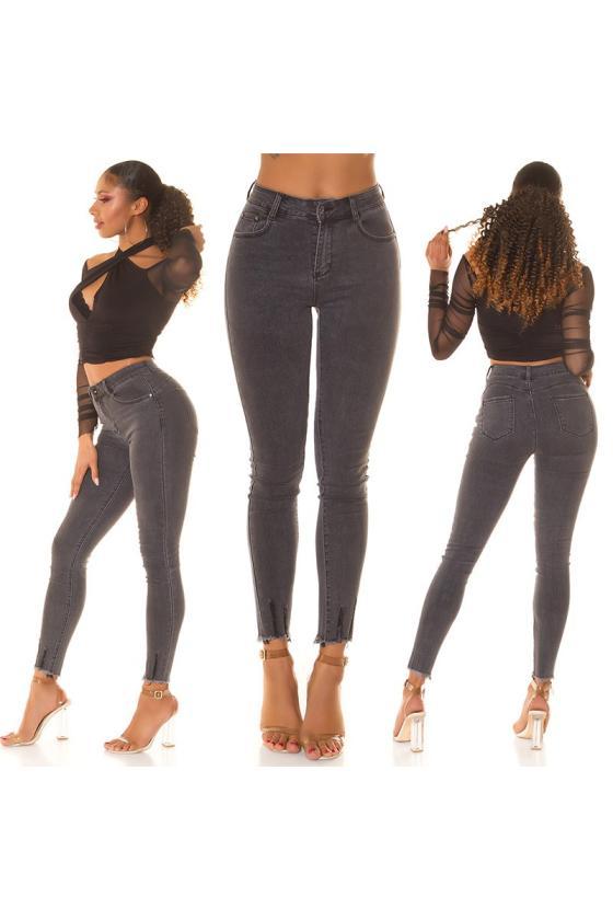 Juodos spalvos eko odos striukė su kailiuku_220875