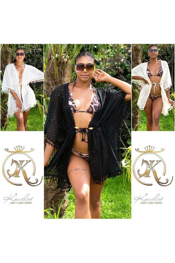 Žydros spalvos paltukas dekoruotas kailiu_220925