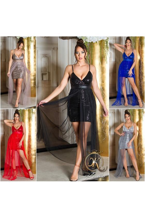 Juodos spalvos paltas dekoruotas kailiu_220975