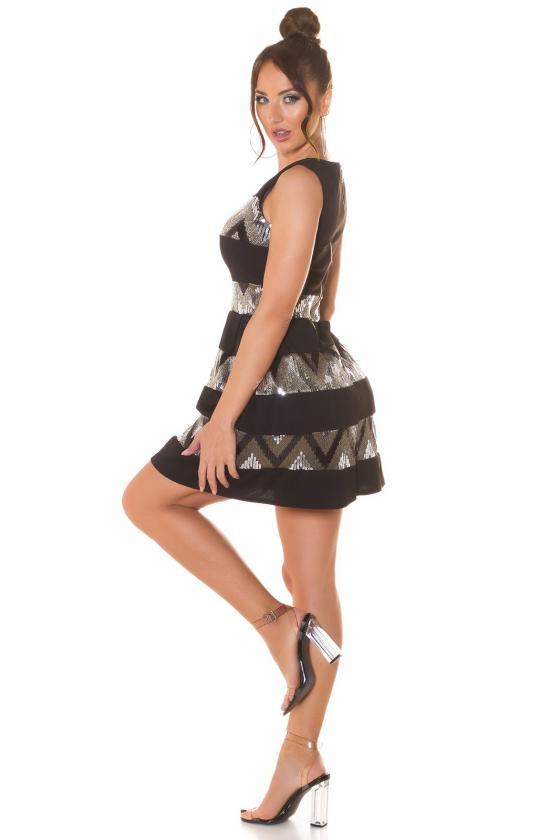 Smėlio spalvos veliūrinė suknelė JOLA_221545